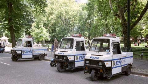 Dreiräder der New Yorker Polizei.