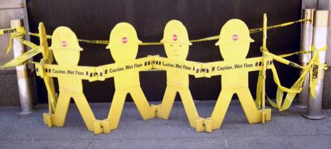 Die gelbe Gefahr – amüsante Absperrung